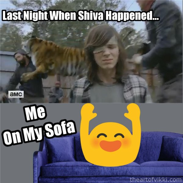 Shiva Saves Carl Meme The Walking Dead Season 7 Finale