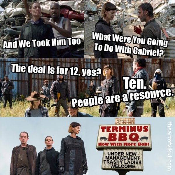 Terminus BBQ The Scavengers The Walking Dead Season 7 Meme