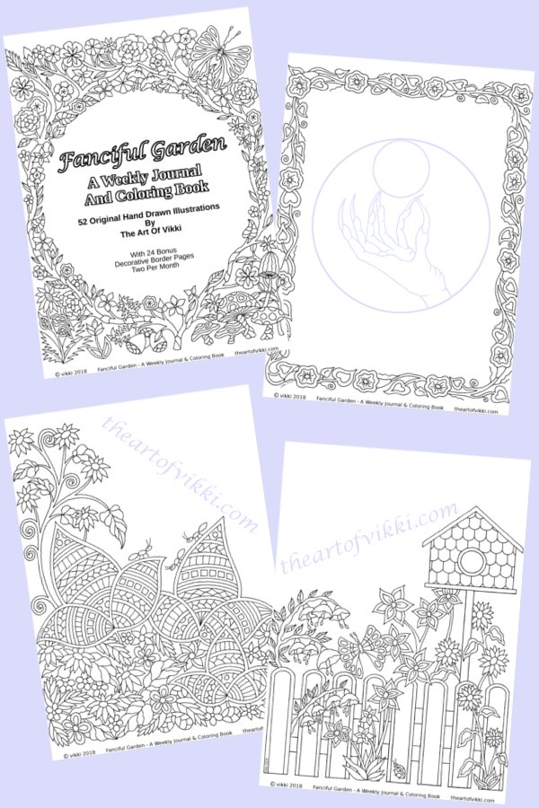 Fanciful Garden Coloring For Adults