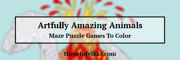 Artfully Amazing Animals Maze And Coloring Book