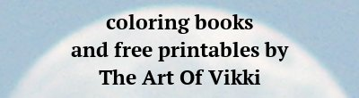 Coloring Books And Free Printables By The Art Of Vikki