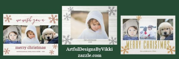 Snowflake Custom Photo Cards By ArtfulDesignsByVikki on zazzle.com